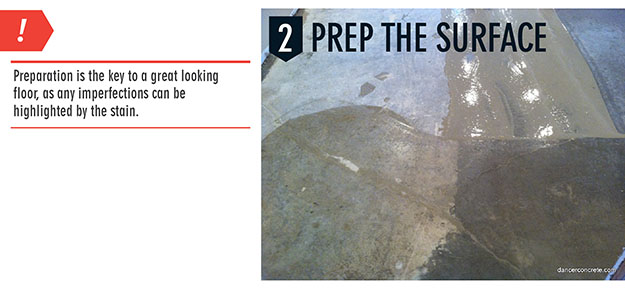 How to prepare before a concrete stain