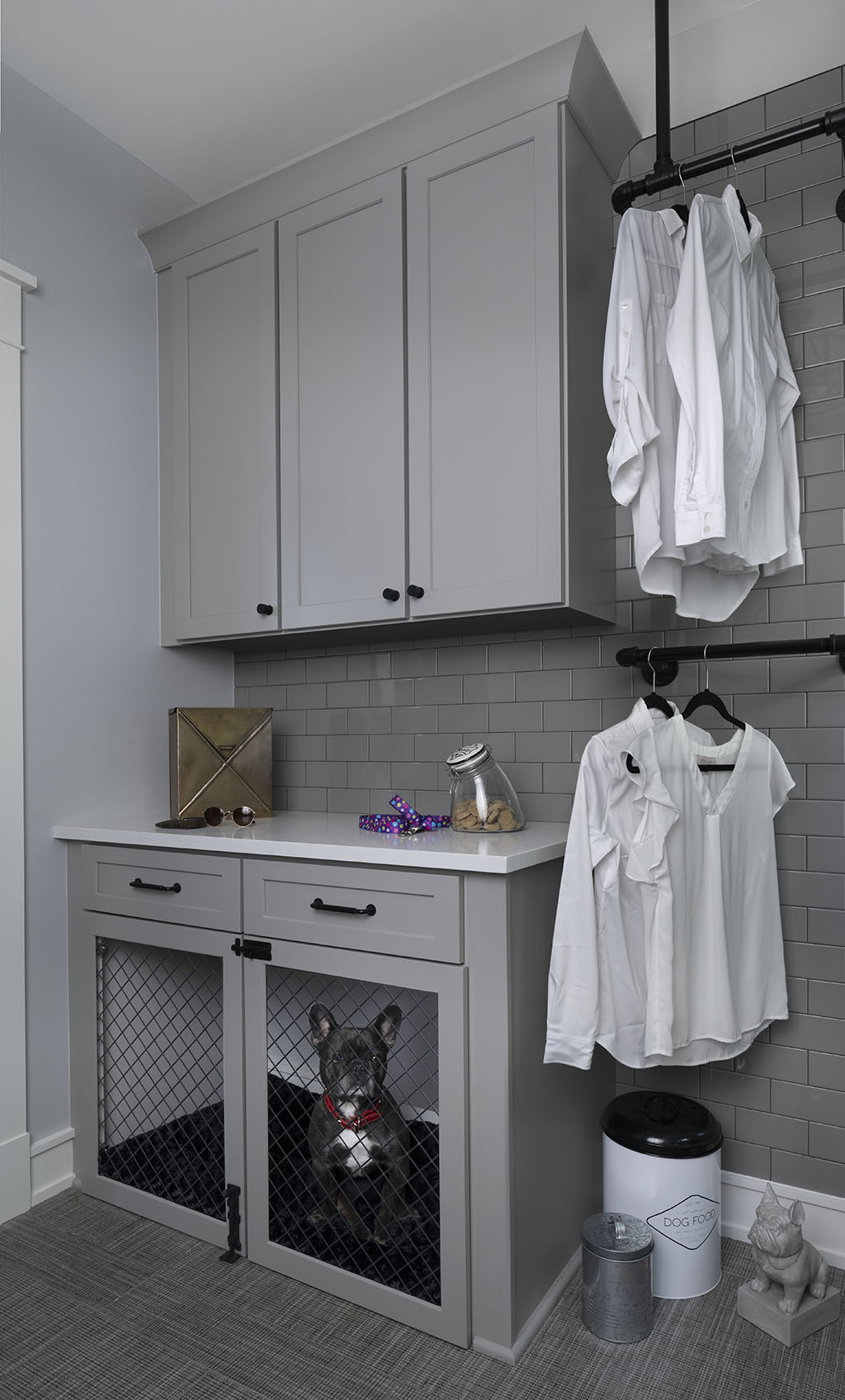 Transitional _Laundry Room_Dog station