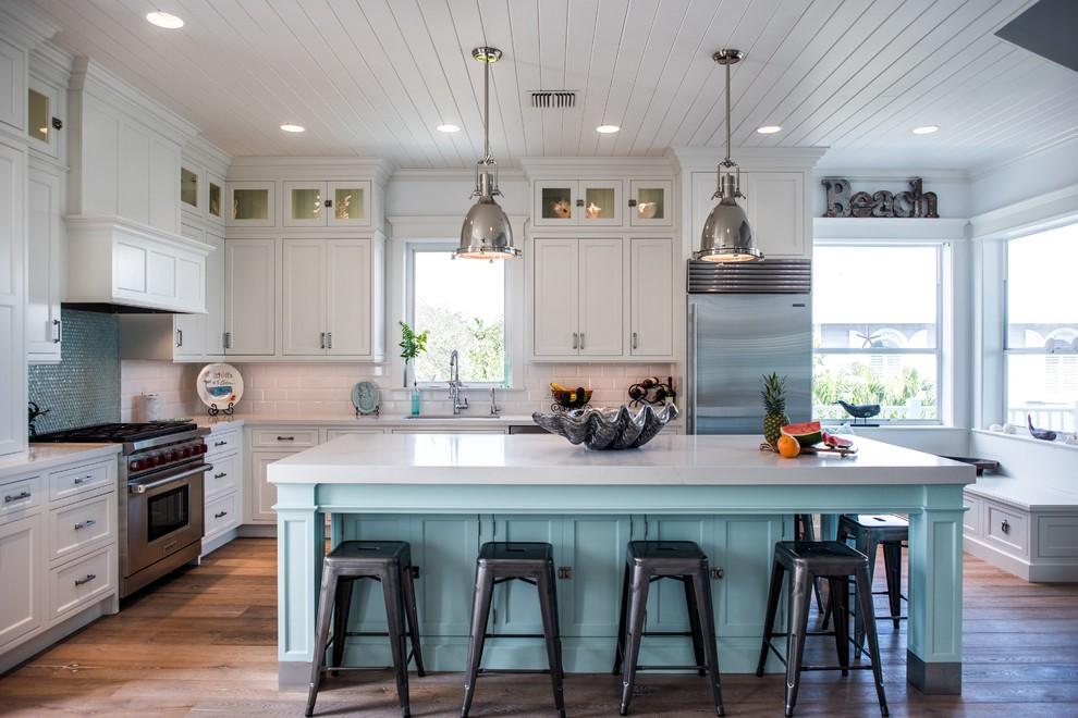 mediterranean-aquamarine-kitchen-cabinets