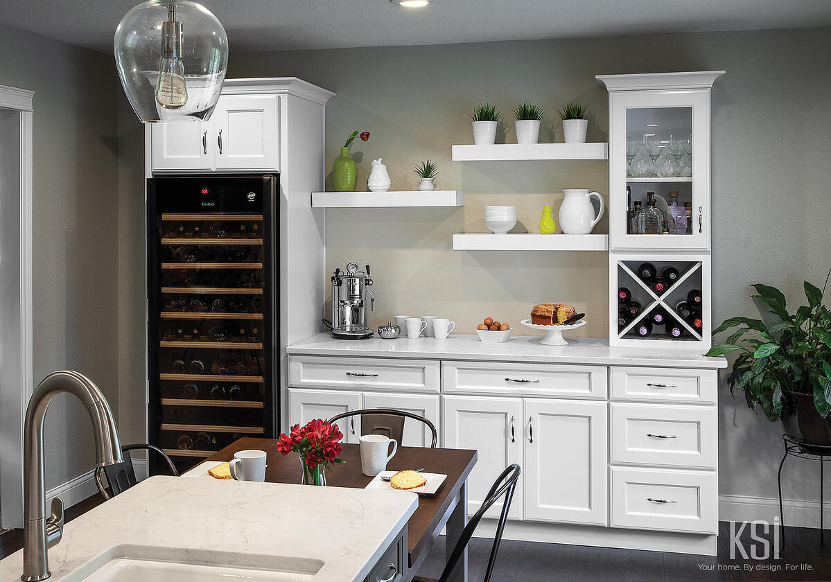 KSI Kitchen-White Cabinets-Bar-white cabinets-Butler Pantry