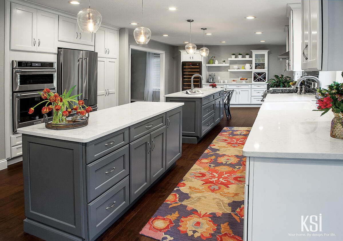 KSI Kitchens-White Cabinets-Gray Cabinets-Transitional_Kitchen