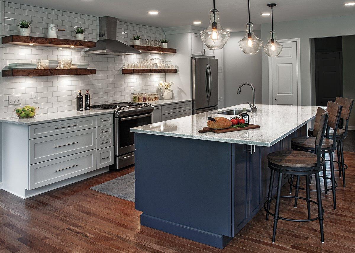 Merillat-white Kitchen cabinets -Masterpiece-Maple-