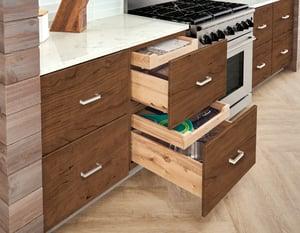 Merillat-three-tier drawers
